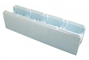 Polystyreen zwembad bouwsteen