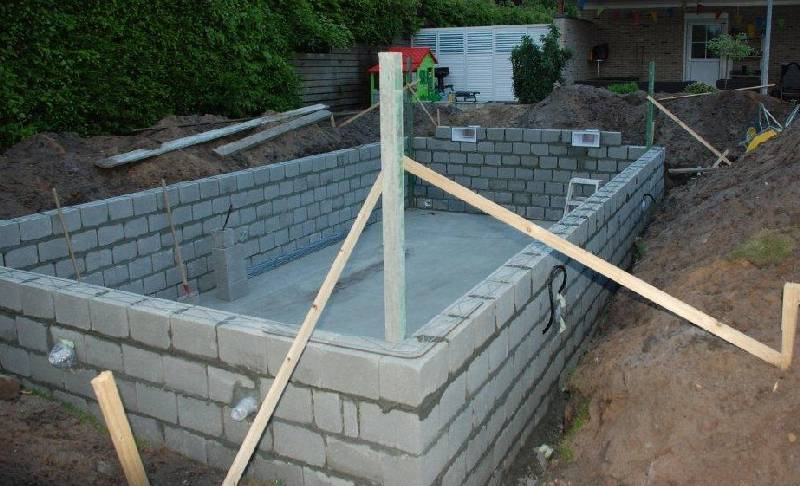 Zwembad in lommel belgi door particulier gebouwd for Inbouw zwembad compleet