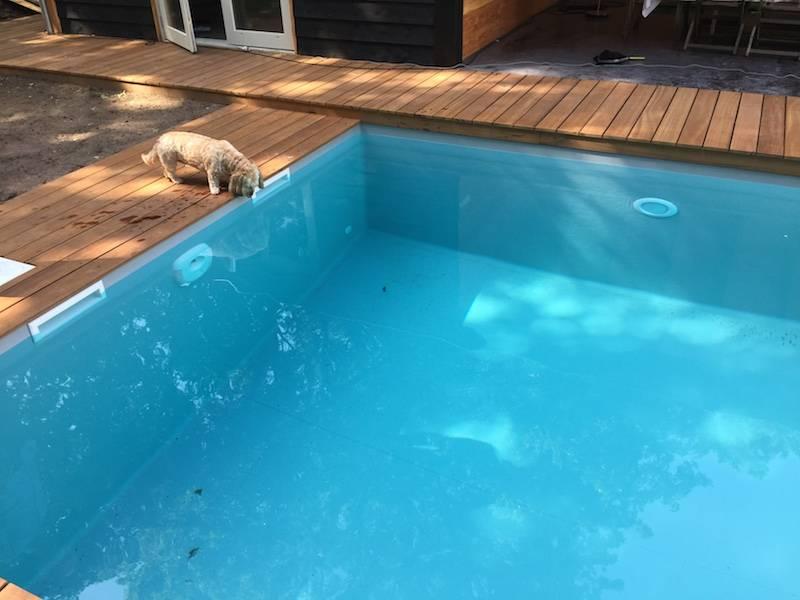 Zwembad met grijze folie Eindhoven