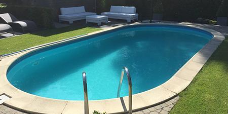 zwembad aangelegd